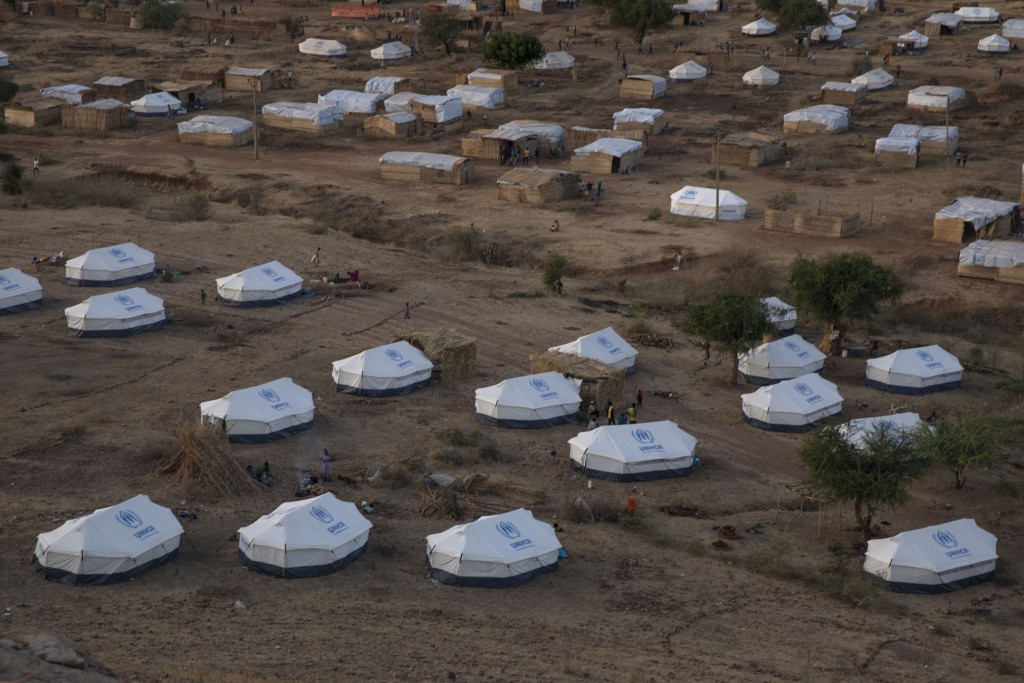 Part of the Umm Rakouba refugee camp, hosting people who fled the conflict in the Tigray region of Ethiopia, in Qadarif, eastern Sudan, Monday, Dec. 1...