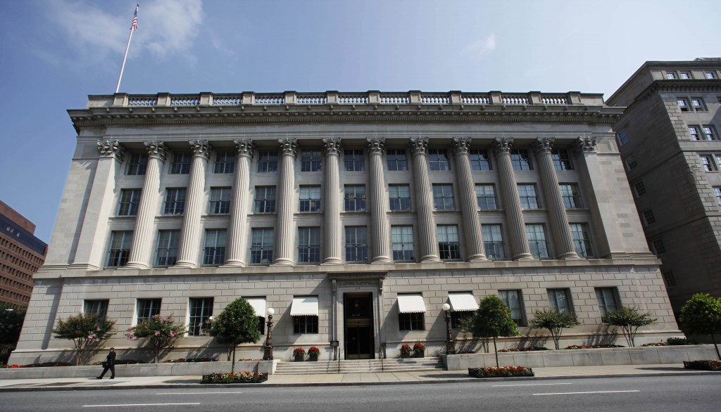 FILE - This Tuesday, Aug. 4, 2009, file photo shows the United States Chamber of Commerce building in Washington. Elite cyber spies have spent months ...