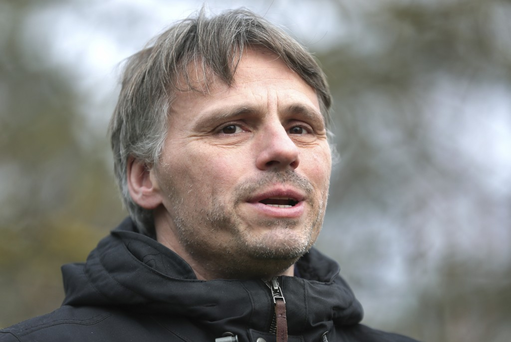 Fabian Leendertz, a biologist who specialized in emerging diseases at the Robert Koch Institute, speaks during an interview with the Associated Press ...