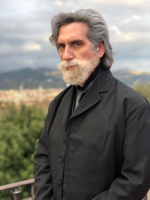 This image released by Hershey Felder Presents shows Hershey Felder in character as 19th century Russian composer Pyotr Ilyich Tchaikovsky in Florence...
