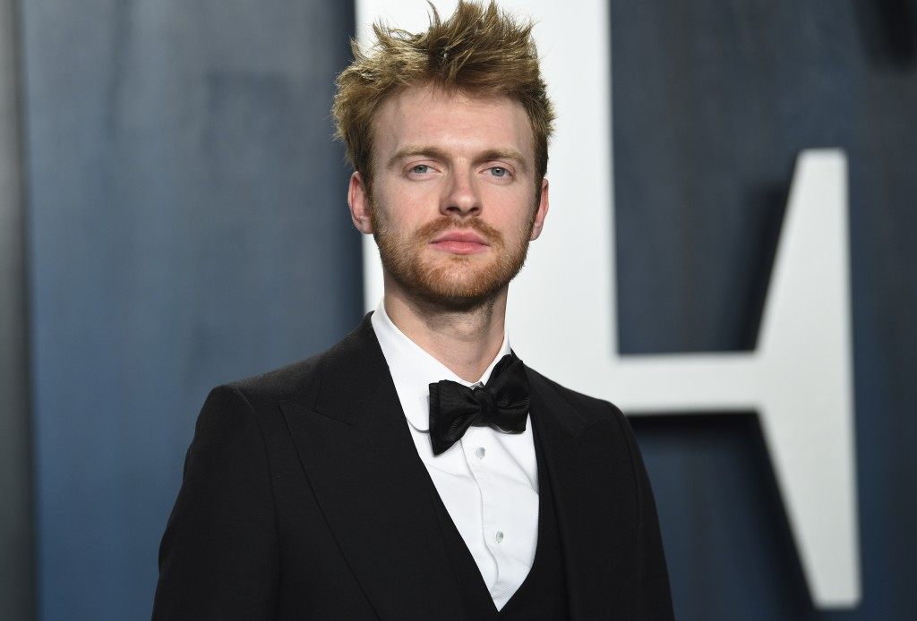 FILE - Finneas O'Connell arrives at the Vanity Fair Oscar Party in Beverly Hills, Calif. on Feb. 9, 2020. O'Connell has been named one of The Associat...