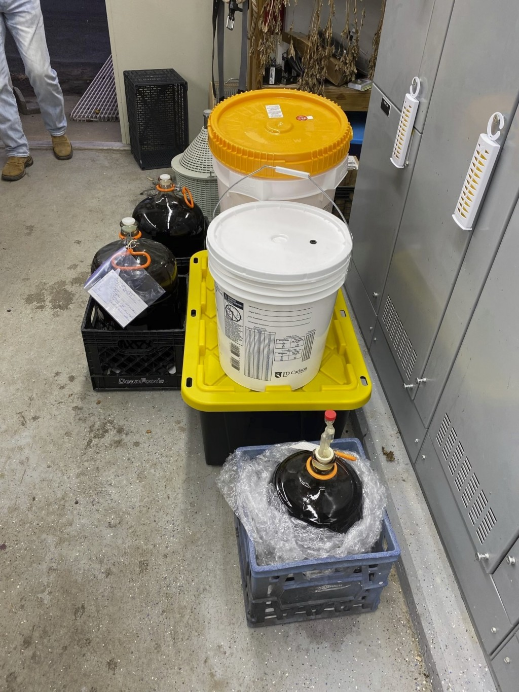 This photo provided by The DeKalb County Sheriff's Office  shows an illegal winery that was operating at a municipal sewage plant in Rainsville, Ala. ...
