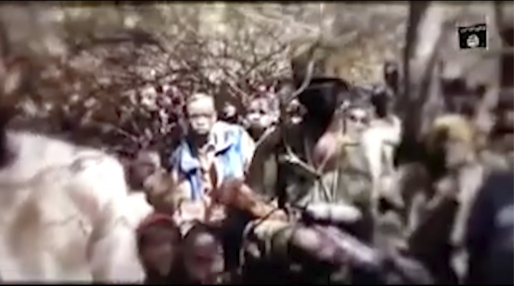 In this image made from an undated video provided by Boko Haram, boys are seen in an undisclosed location. A video allegedly released on Thursday, Dec...