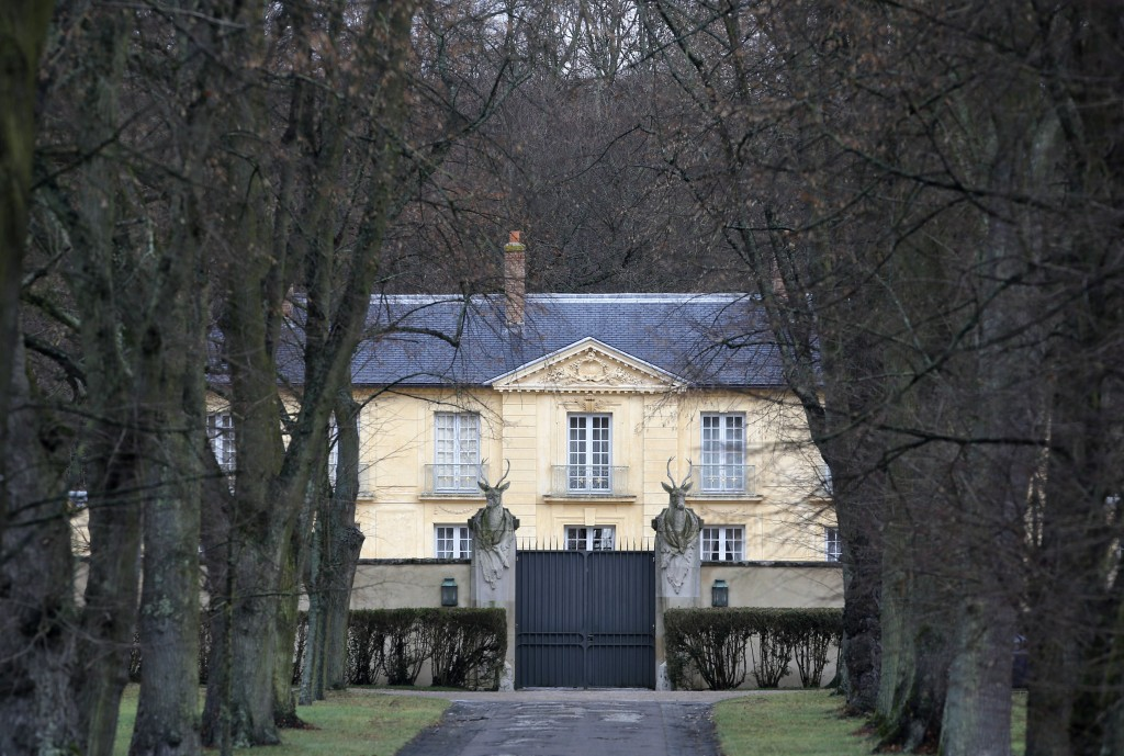 FILE - In this Jan.19, 2014 file photo, the official residence La Lanterne, is pictured in Versailles, west of Paris. As French President Emmanuel Mac...