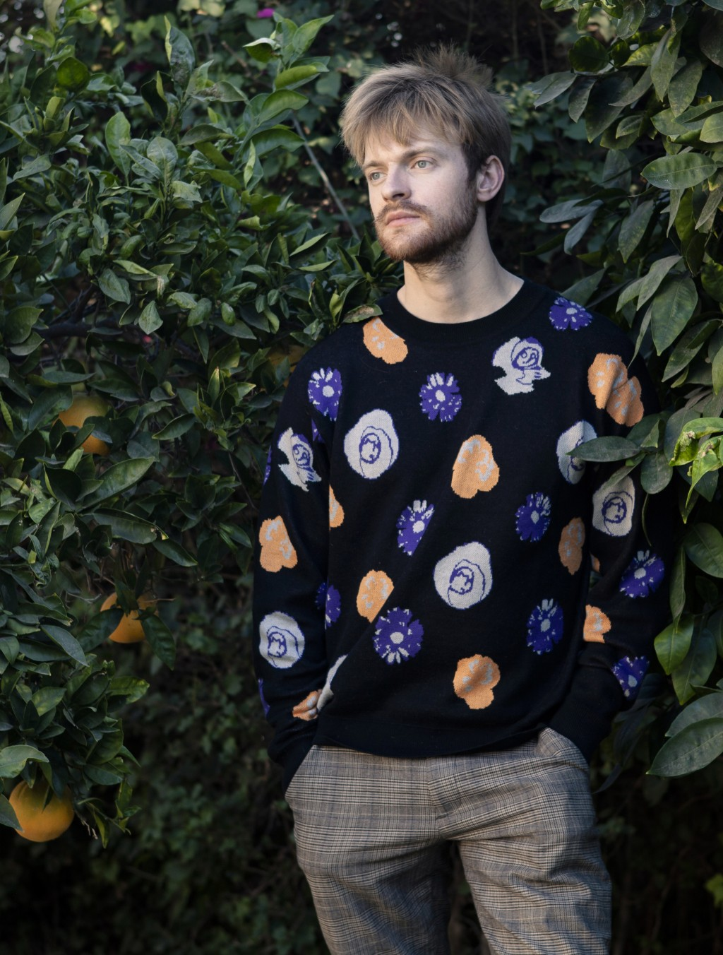 Finneas O'Connell poses at his home in Los Angeles on Friday Dec. 4 2020. O'Connell has been named one of The Associated Press' Breakthrough Entertain...