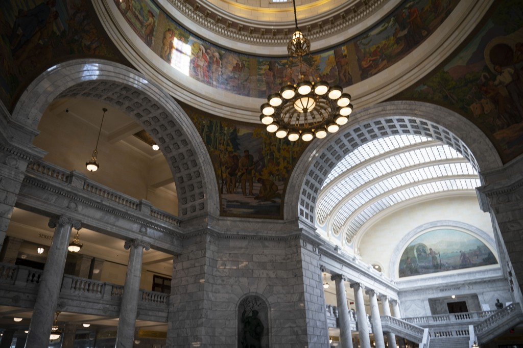 The interior of the Utah State Capitol in Salt Lake City is photographed on Monday, Nov. 16, 2020. When it comes to politics, Utah has long claimed th...