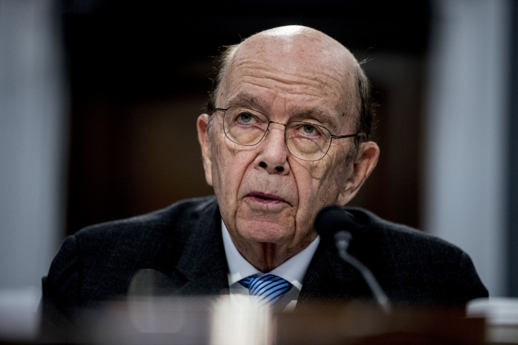 FILE - In this Tuesday, March 10, 2020, file photo, Commerce Secretary Wilbur Ross testifies before a House Appropriations subcommittee on Capitol Hil...
