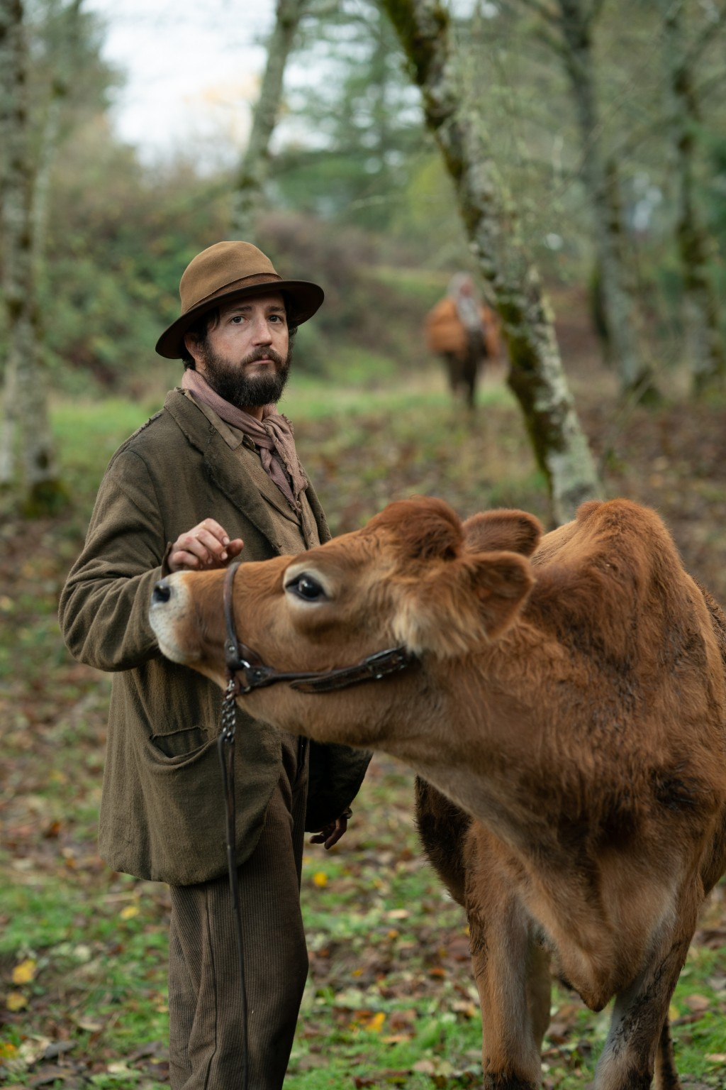 "This image released by A24 shows John Magaro in a scene from the film ""First Cow."" The New York Film Critics Circle on Friday, Dec. 18, 2020, voted Ke..."