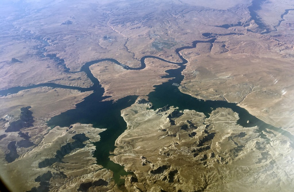 FILE - In this Sept. 11, 2019, file photo, is an aerial view of Lake Powell on the Colorado River along the Arizona-Utah border. A set of guidelines f...