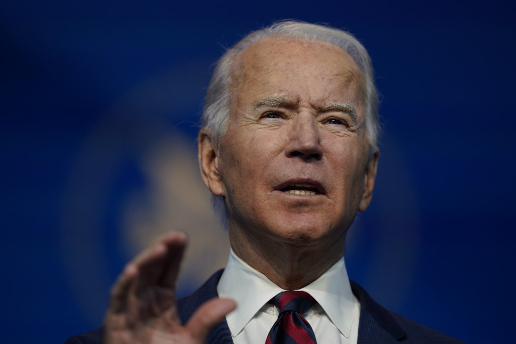 President-elect Joe Biden announces his climate and energy nominees and appointees at The Queen Theater in Wilmington Del., Saturday, Dec. 19, 2020. (...