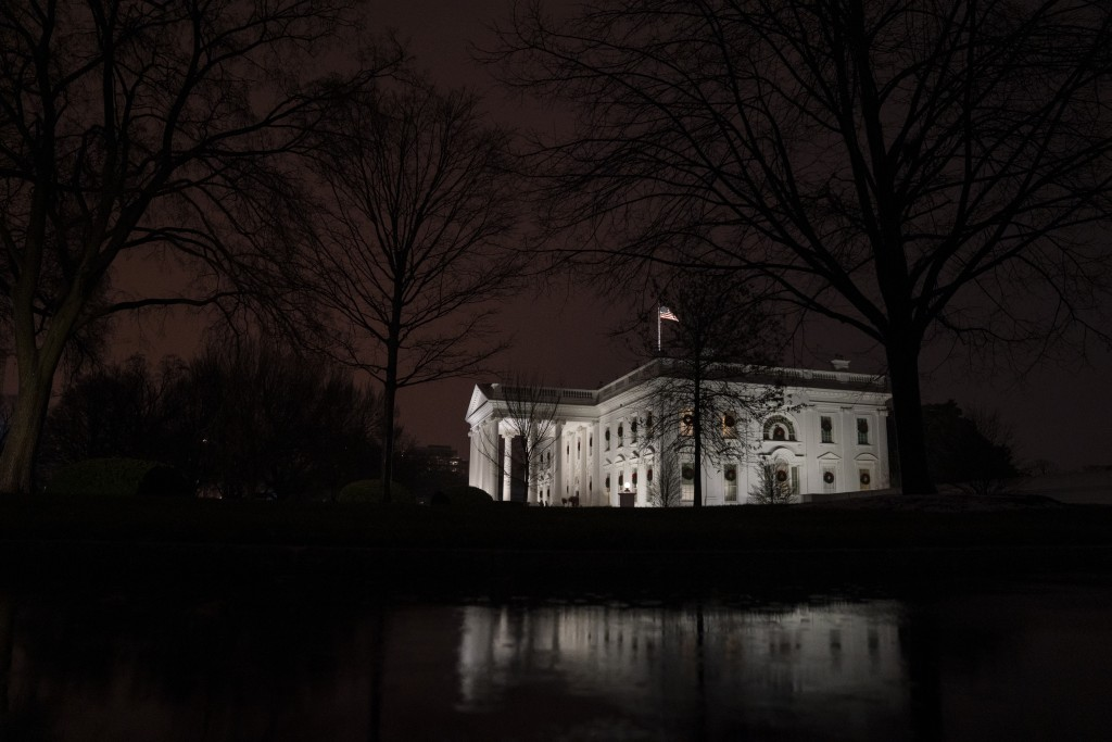 FILE - This Dec. 16, 2020, file photo shows a view of the White House in Washington. In the six weeks since his defeat by Biden, Trump has been increa...