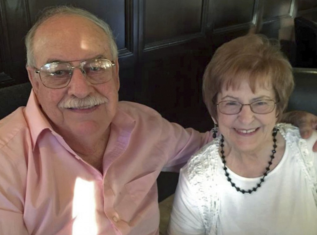 In this undated photo provided by Theresa Pirozzi shows her parents, Jerry and Shirley Pirozzi, an 85-year-old couple from Southern California who hav...