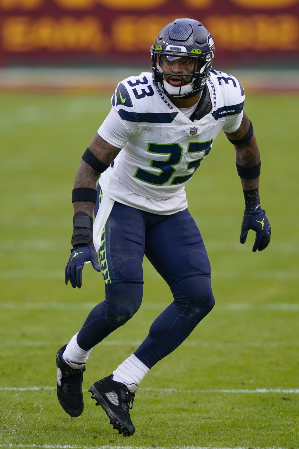 Seattle Seahawks strong safety Jamal Adams (33) during the second half of an NFL football game against the Washington Football Team, Sunday, Dec. 20, ...