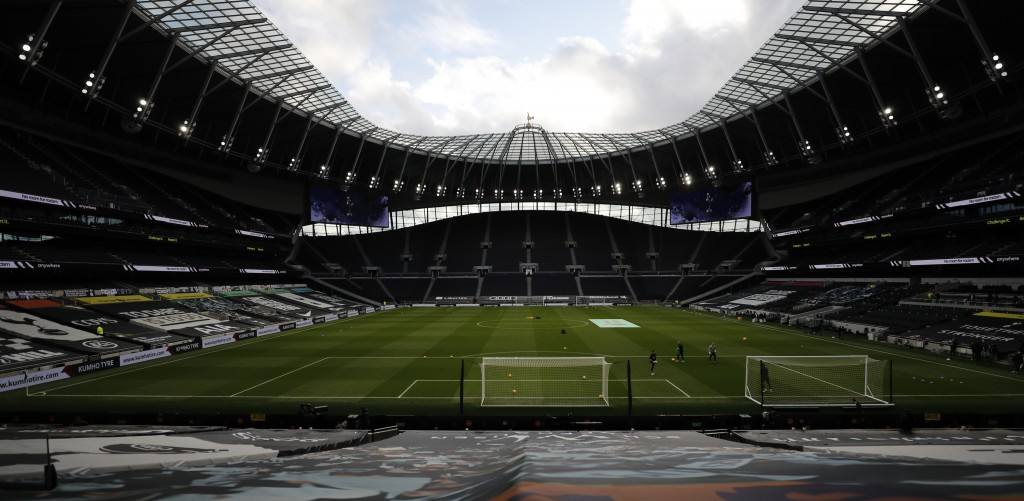 A general view of Tottenham Hotspurs White Hart Lane stadium ahead of the English Premier League soccer match between Tottenham Hotspur and Leicester ...