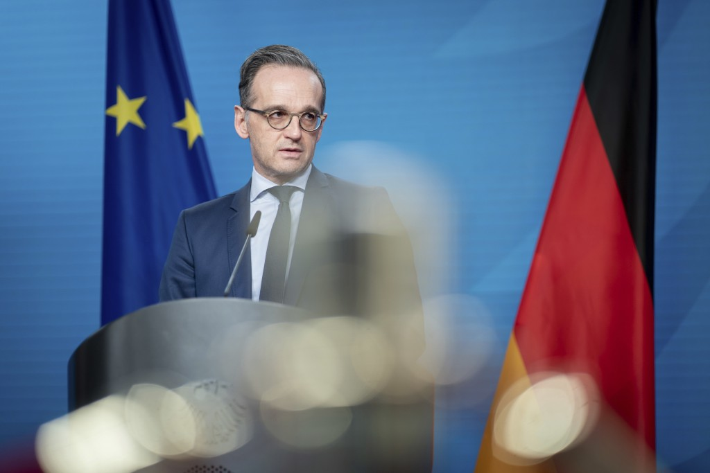 Heiko Maas, German Foreign Minister, gives a press conference on the informal virtual meeting on the informal virtual meeting of the foreign ministers...
