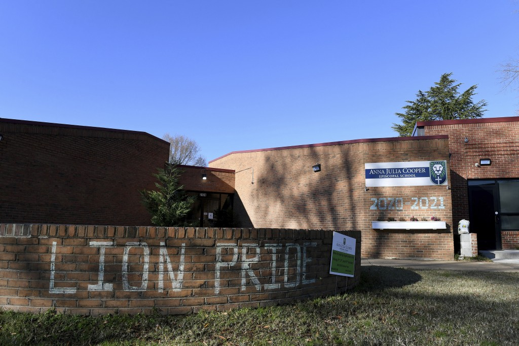A general view of Anna Julia Cooper Episcopal School, Sunday, Dec. 6, 2020, in Richmond. Proceeds from Frank Pichel's Christmas tree sales will go to ...