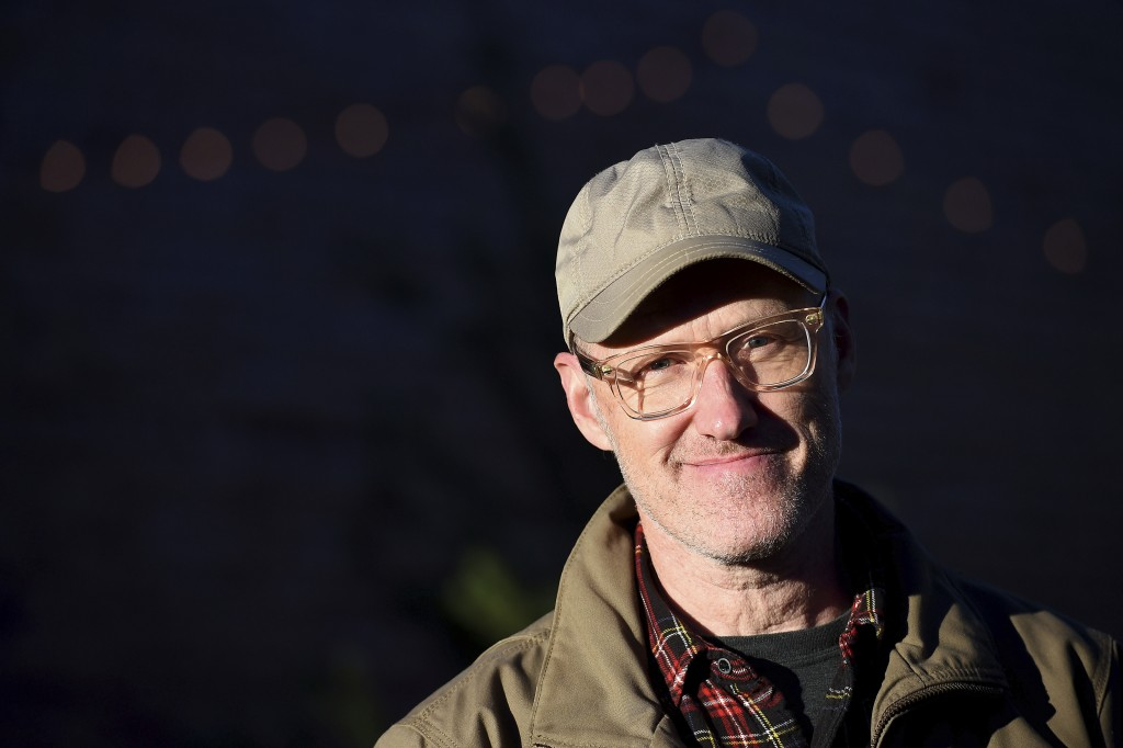 Frank Pichel poses for a portrait outside of his tree lot, Sunday, Dec. 6, 2020, in Richmond, Va. The Virginia man has found a way to use Charlie Brow...