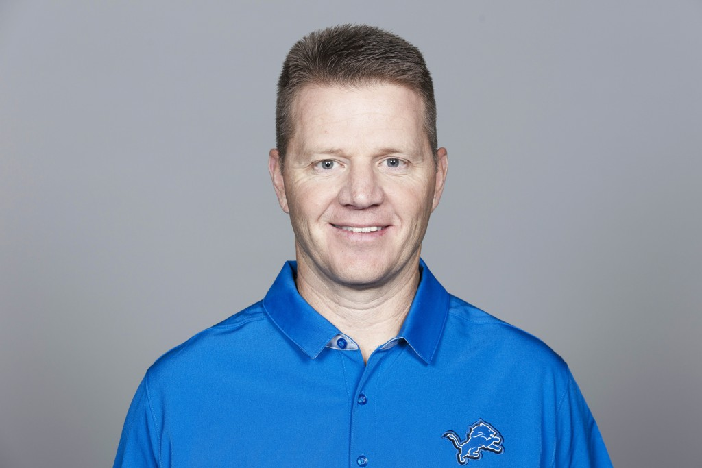 FILE - This 2019 file photo shows Darrell Bevell of the Detroit Lions NFL football team. Detroit fired special teams coordinator Brayden Coombs on Mon...