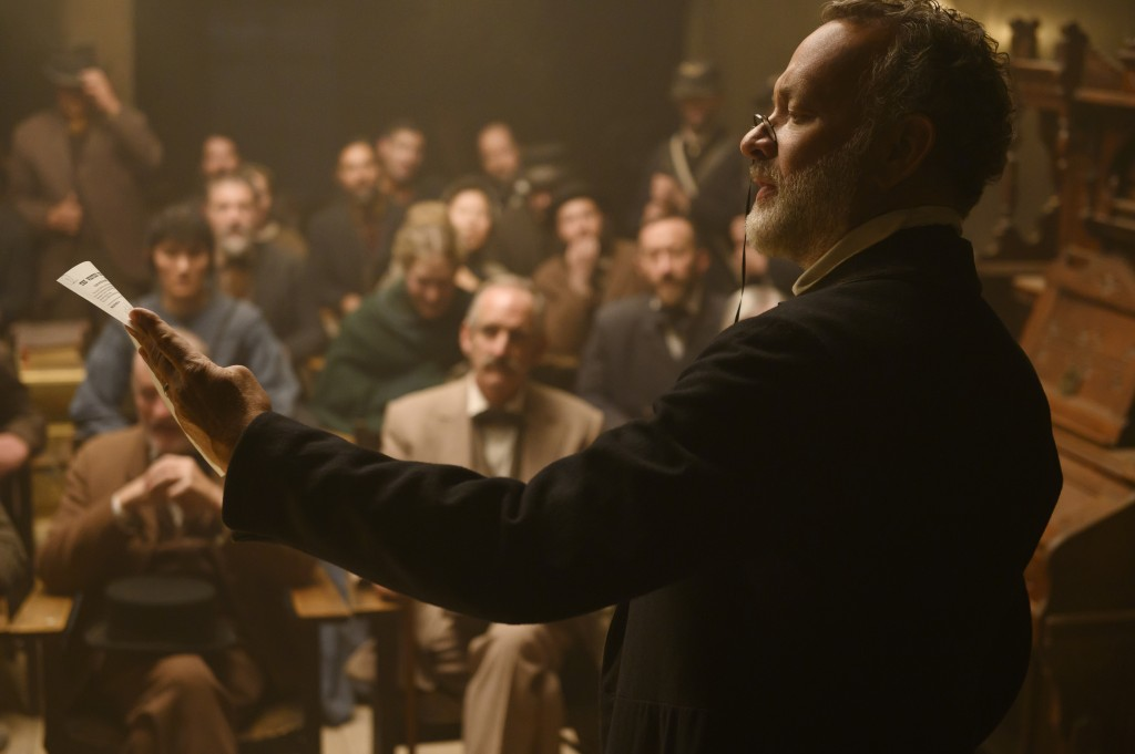"""Tom Hanks appears in a scene from """"News of the World."""" (Bruce W. Talamon/Universal Pictures via AP)"""