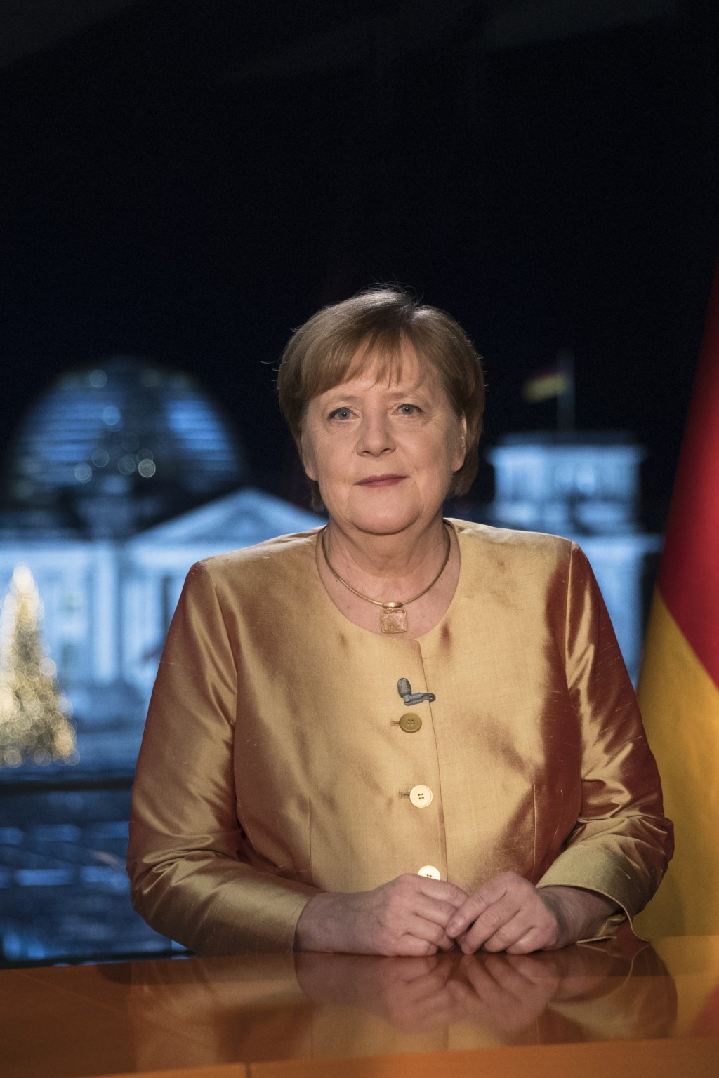 EMBARGO - UNTIL DEC. 31 00:00 A.M. CET - FREE FOR THURSDAY DEC. 31, 2020 NEWSPAPERS - German Chancellor Angela Merkel poses for photographs after the ...