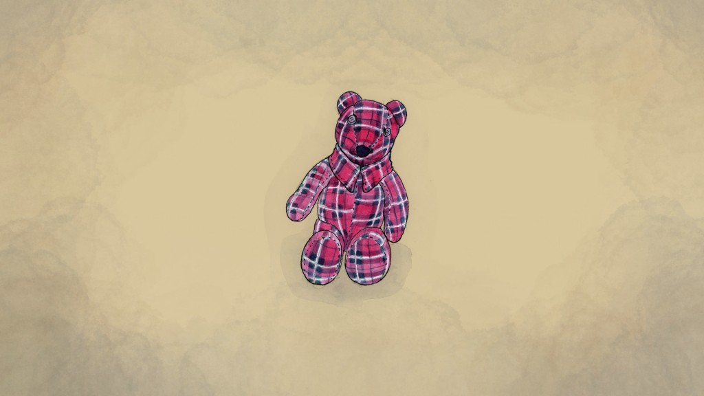 An illustration made from a photo provided by Meghan Carrier of a teddy bear she made from her father Cleon Boyd's flannel shirts. (AP Illustration/Pe...