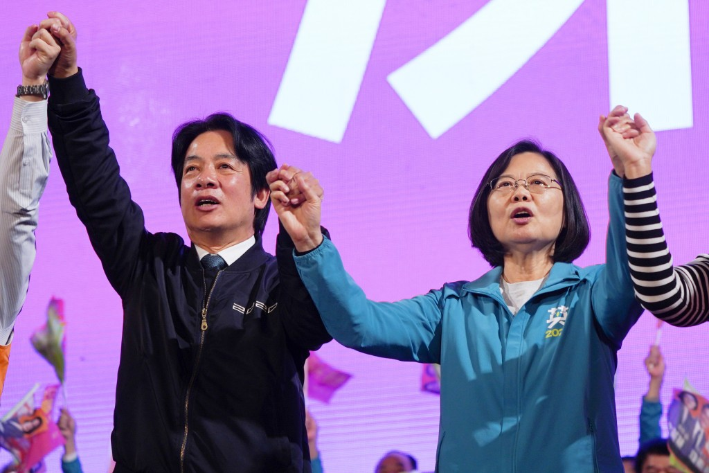 William Lai (left) and Tsai Ing-wen