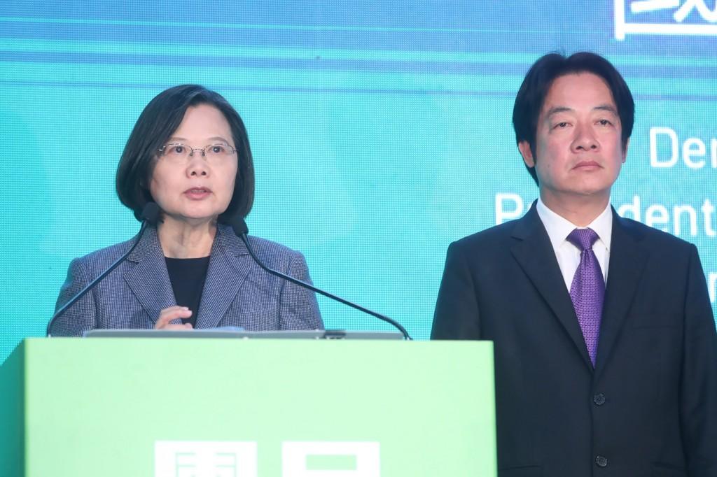 President Tsai Ing-wen and Vice President-elect William Lai.