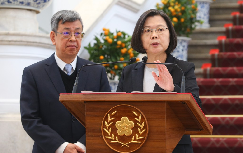 Vice President Chen Chien-jen (Left) and President Tsai Ing-wen.