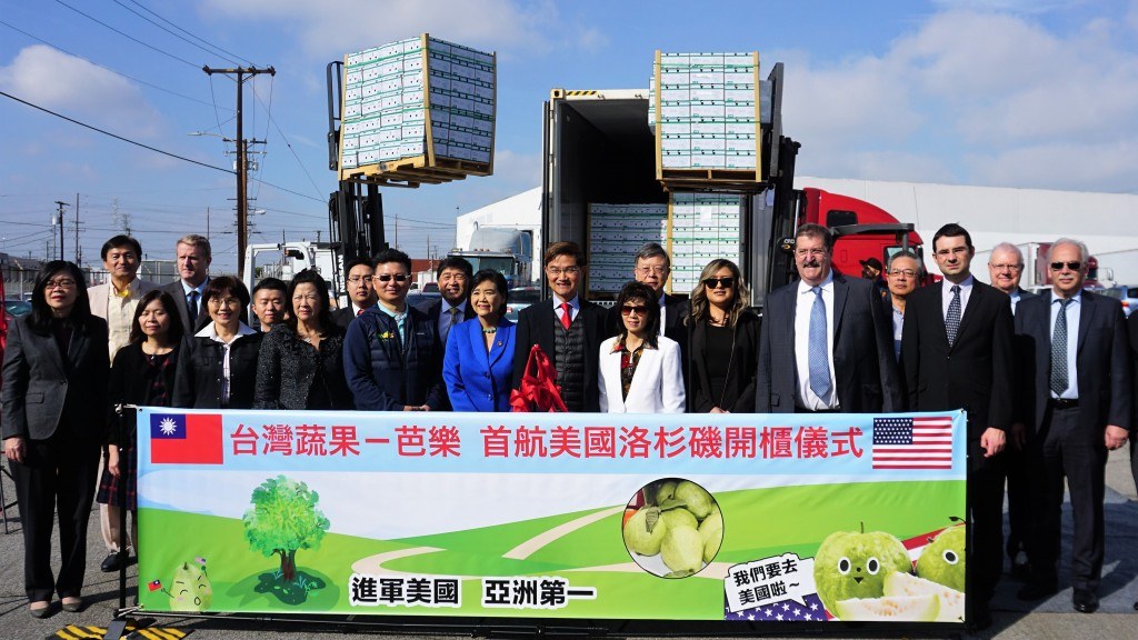 First batch of Taiwanese guava arrives in US.