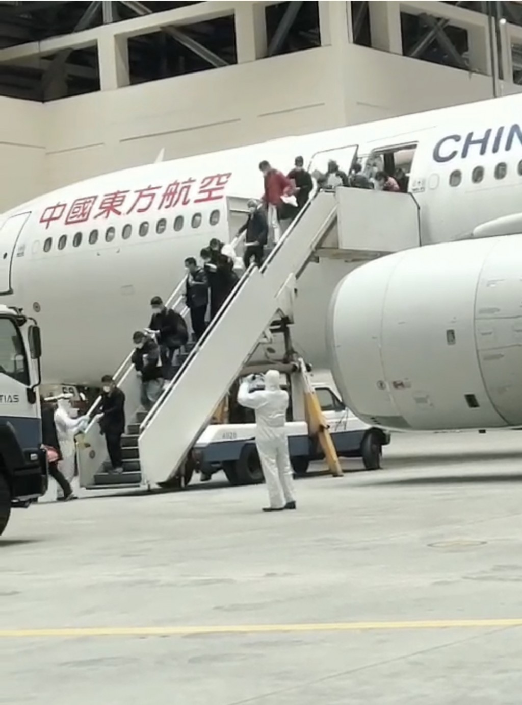 247 Taiwanese trapped in Wuhan land in Taipei, 3 have fevers