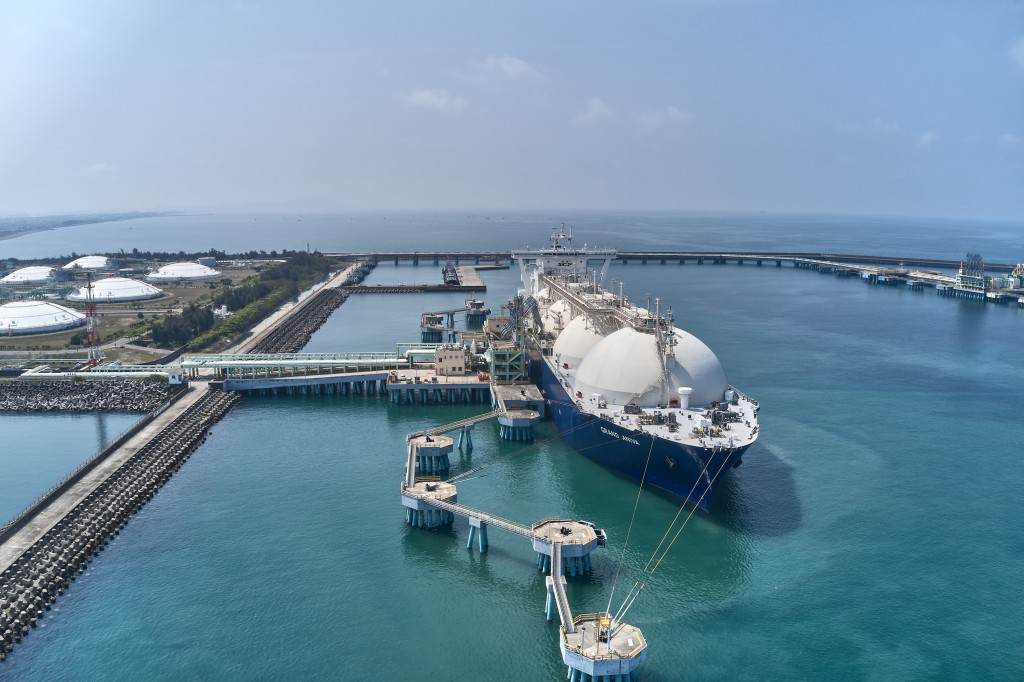 LNG carrier arrives at Kaohsiung