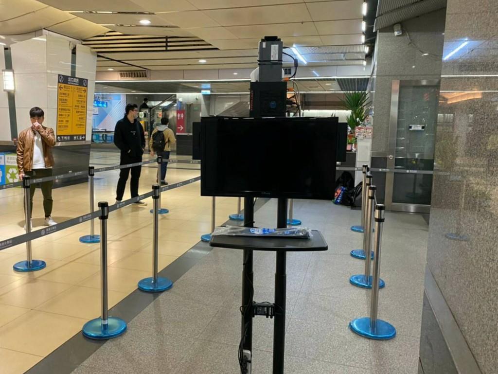 An infrared camera is tested at Nangang station.