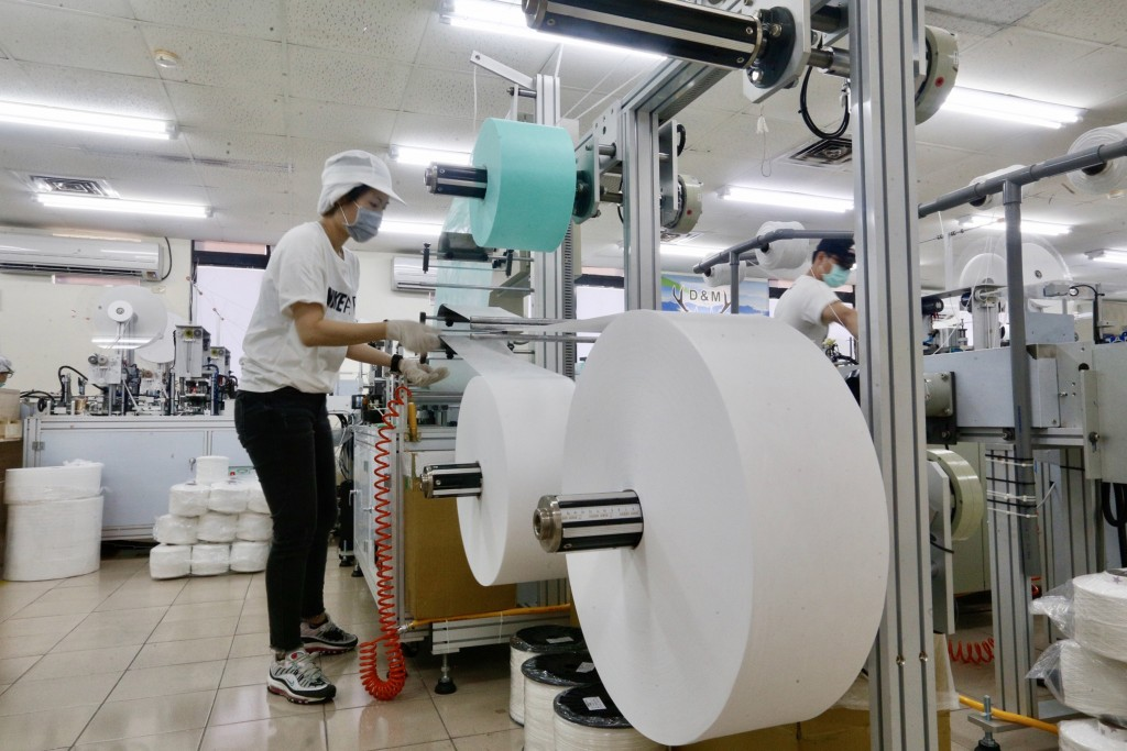 Mask production plant in Kaohsiung, Taiwan.