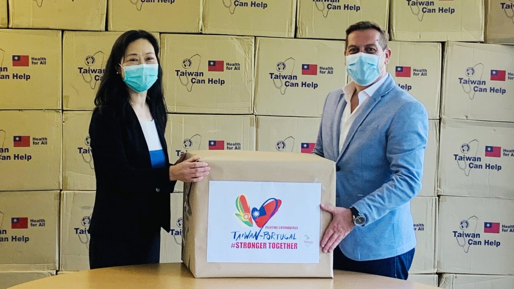 Taiwan donates masks to Portugal.
