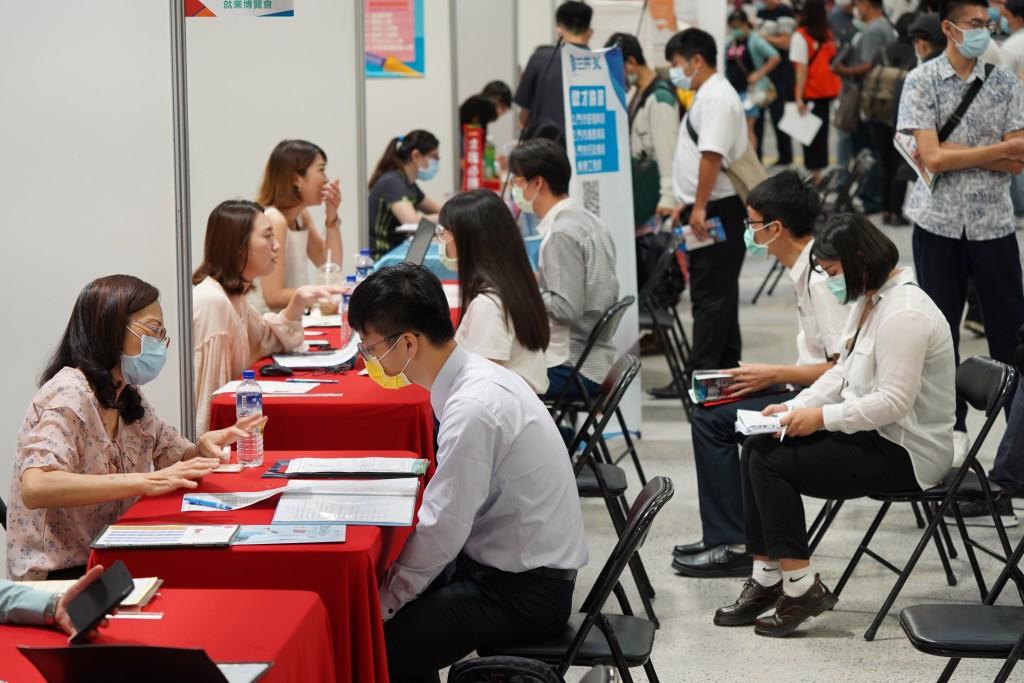 A job fair in Taipei.