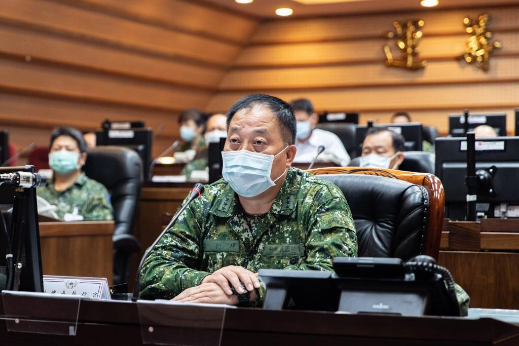 Taiwan Army CommanderHsu Yen-pu.(Military News Agency photo)