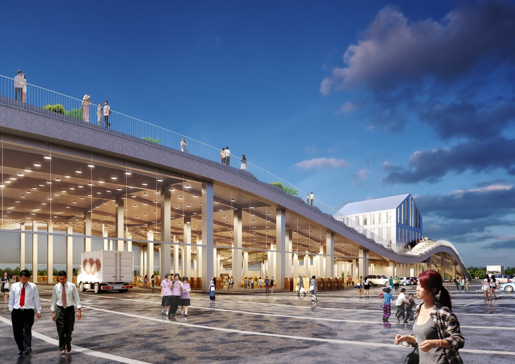 Design for new Xin Hua Fruits and Vegetables Market (Tainan City Government via CNA image)