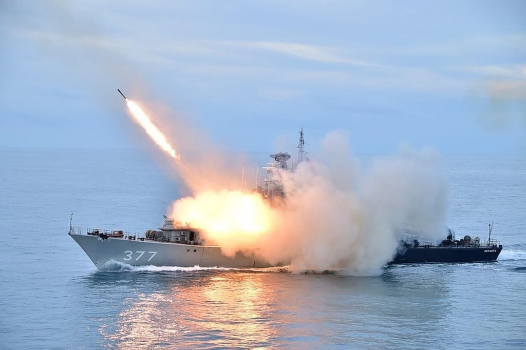 Indonesia conducts exercises in South China Sea. (CNA, Indonesian Navy photo)
