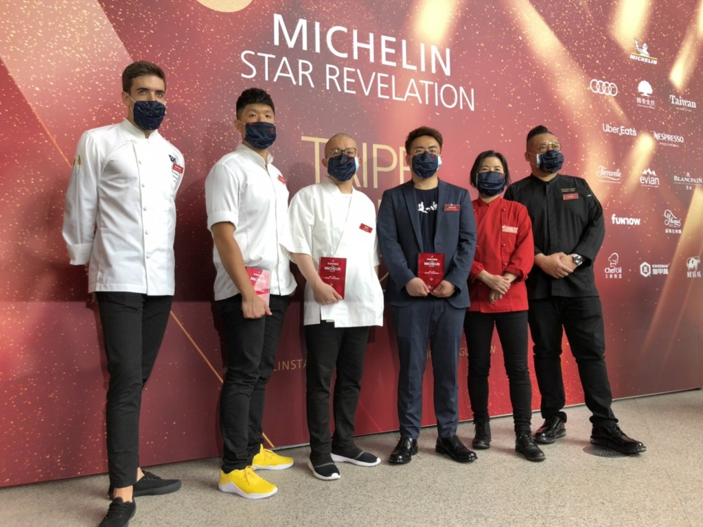 Winners of the Michelin Guide Taipei starred restaurants awards.