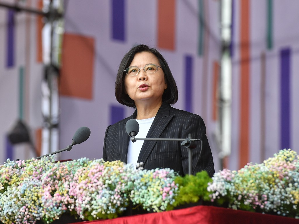 President Tsai Ing-wen delivering her National Day speech.