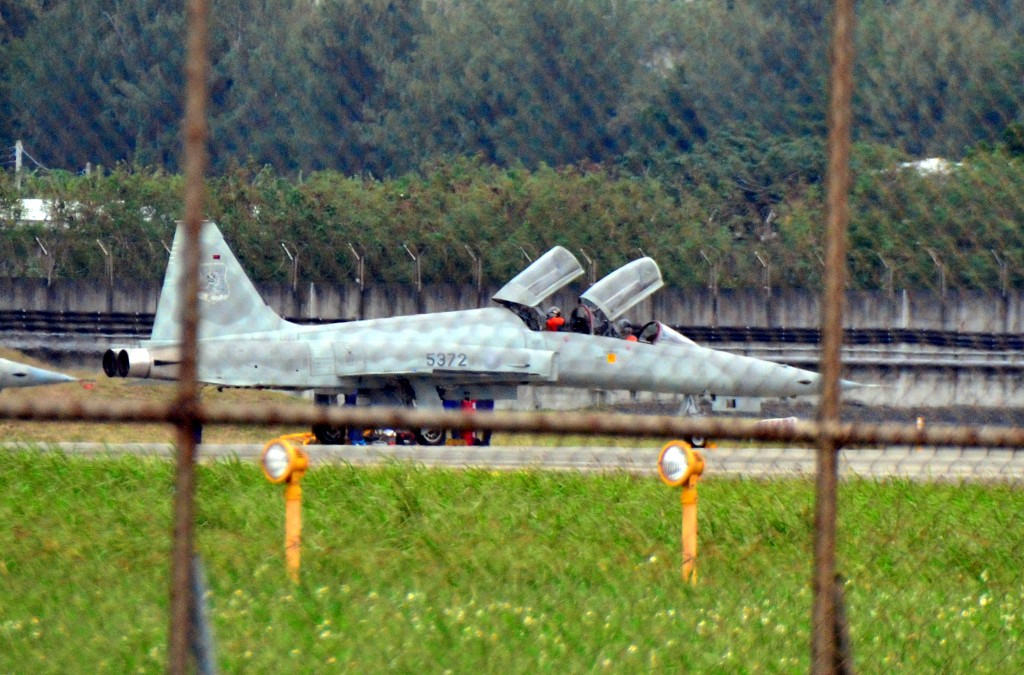 F-5E fighterjet at Taitung's Chihang base.