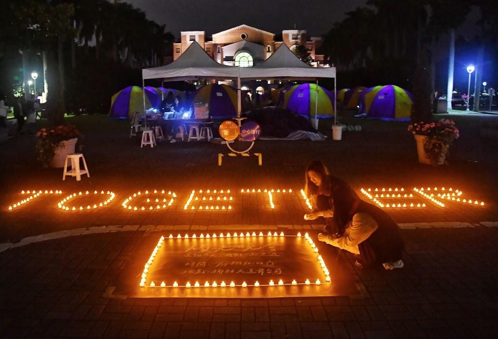 Candlelight vigil held on NTU campus on Nov. 14.
