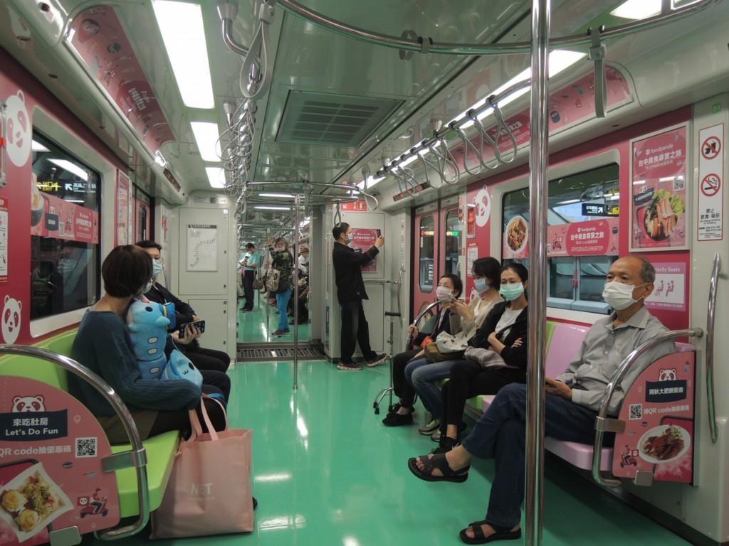 Passengers riding the Taichung MRT