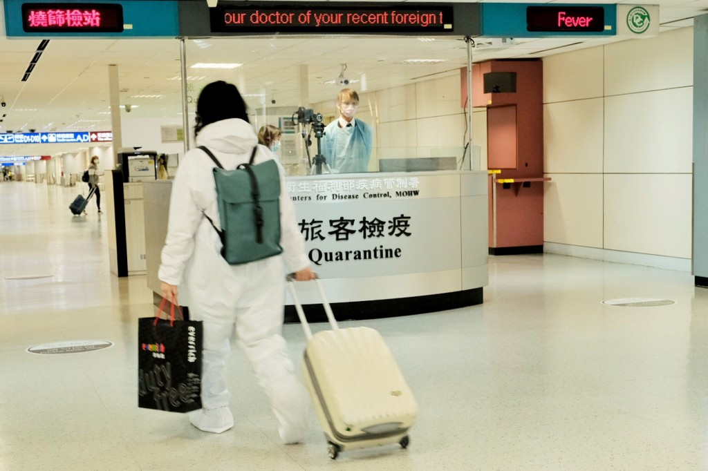 Passenger at Taoyuan International Airport ​​​​​​