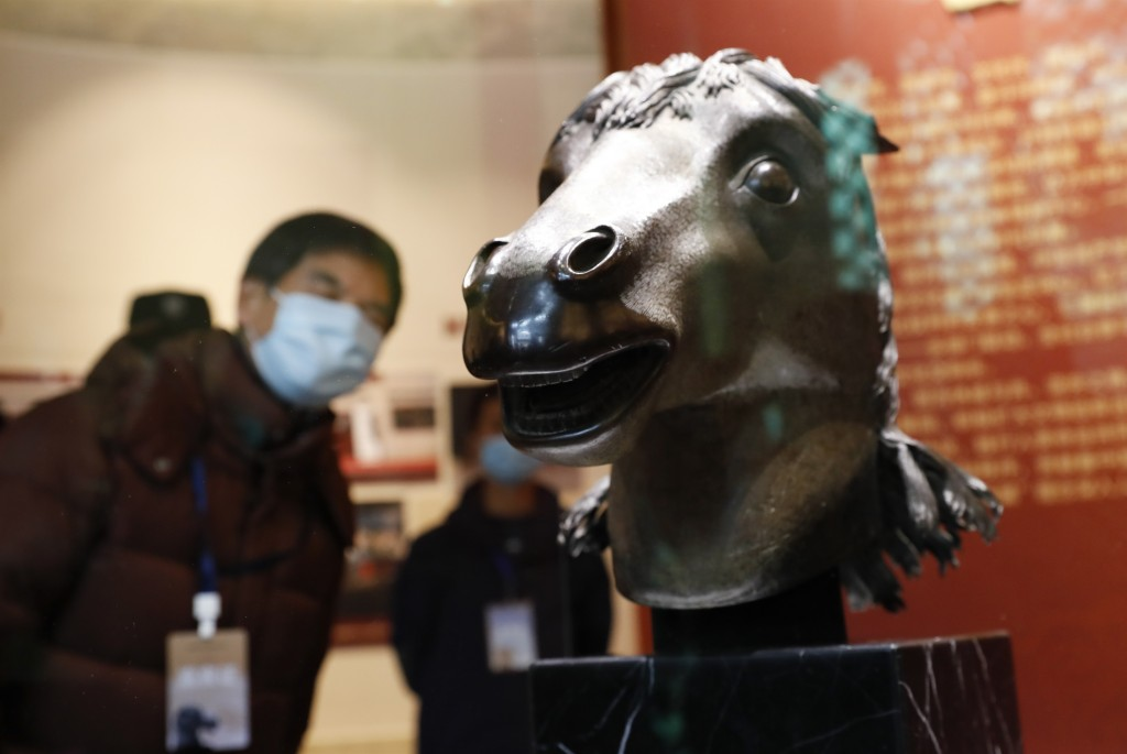 Chinese bronze horse head returned to Old Summer Palace.