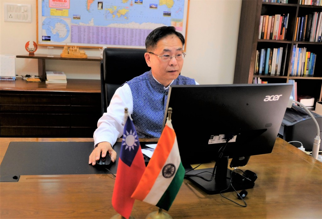 Taiwan's representative to India, Baushuan Ger, in the office.