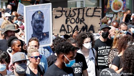 Protesters take to streets of France, Germany over police brutality