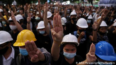 Thailand protesters look to Hong Kong's pro-democracy movement for inspiration
