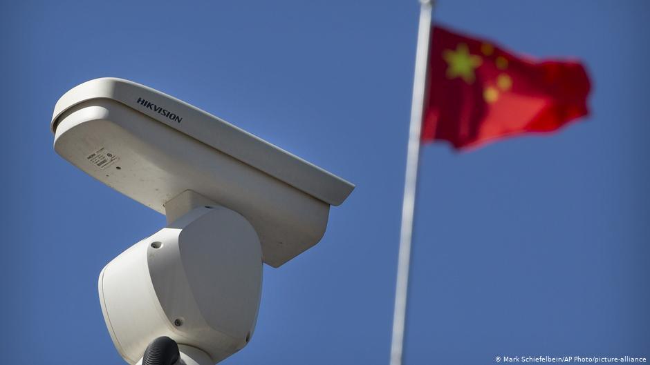 新疆再教育營監控設備(德國之聲照片)