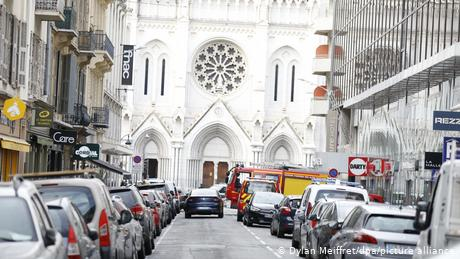Deadly knife attack near church in French city of Nice leaves three dead